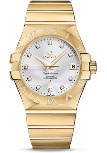 Omega Watches - Constellation Co-Axial 35 mm - Brushed Yellow Gold - Style No: 123.55.35.20.52.004