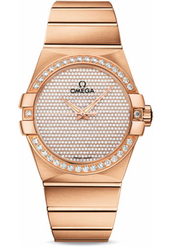 Omega Watches - Constellation Co-Axial 38 mm - Brushed Red Gold - Style No: 123.55.38.20.99.004