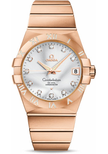 Omega Watches - Constellation Co-Axial 38 mm - Brushed Red Gold - Style No: 123.55.38.21.52.007