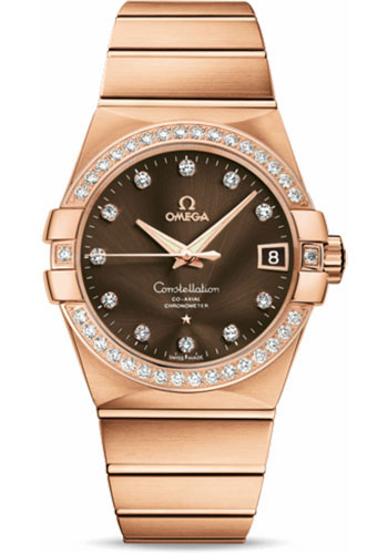 Omega Watches - Constellation Co-Axial 38 mm - Brushed Red Gold - Style No: 123.55.38.21.63.001