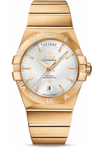 Omega Watches - Constellation Co-Axial Day-Date 38 mm - Yellow Gold - Style No: 123.55.38.22.02.002