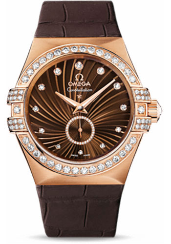 Omega Watches - Constellation Co-Axial Small Seconds 35 mm - Brushed Red Gold - Style No: 123.58.35.20.63.001