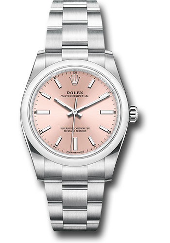 Rolex Watches - Oyster Perpetual No-Date 34mm - Domed Bezel - Style No: 124200 pio