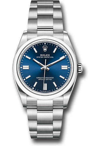 Rolex Watches - Oyster Perpetual No-Date 36mm - Domed Bezel - Style No: 126000 bluio