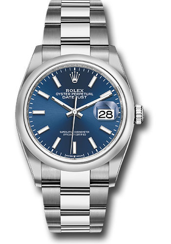 Rolex Watches - Datejust 36 Steel - Domed Bezel - Oyster - Style No: 126200 blio