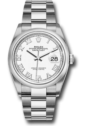 Rolex Watches - Datejust 36 Steel - Domed Bezel - Oyster - Style No: 126200 wro