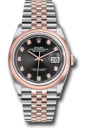 Rolex Watches - Datejust 36 Steel and Pink Gold - Domed Bezel - Jubilee - Style No: 126201 bkdj