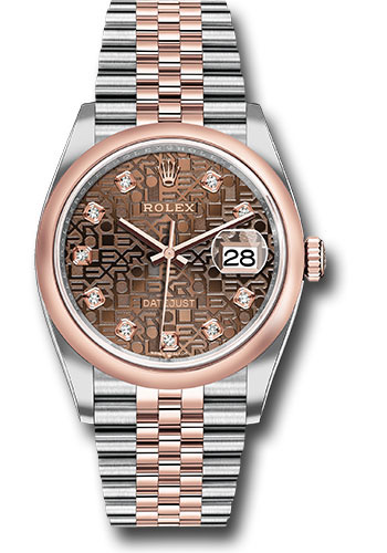 Rolex Watches - Datejust 36 Steel and Pink Gold - Domed Bezel - Jubilee - Style No: 126201 chojdj