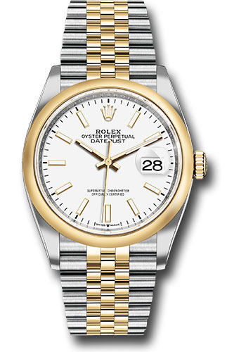 Rolex Watches - Datejust 36 Steel and Yellow Gold - Domed Bezel - Jubilee - Style No: 126203 wij