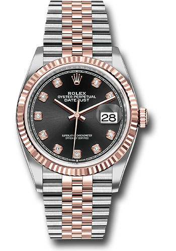 Rolex Watches - Datejust 36 Steel and Pink Gold - Fluted Bezel - Jubilee - Style No: 126231 bkdj