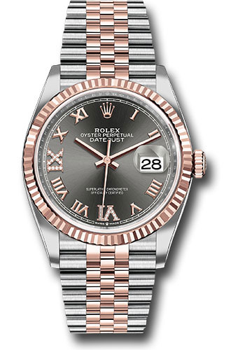 Rolex Watches - Datejust 36 Steel and Pink Gold - Fluted Bezel - Jubilee - Style No: 126231 dkrdr69j
