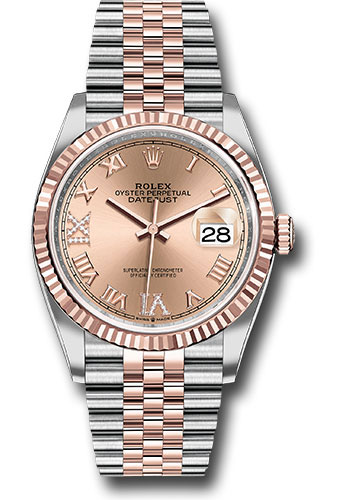 Rolex Watches - Datejust 36 Steel and Pink Gold - Fluted Bezel - Jubilee - Style No: 126231 rdr69j