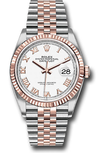 Rolex Watches - Datejust 36 Steel and Pink Gold - Fluted Bezel - Jubilee - Style No: 126231 wrj