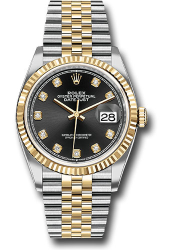 Rolex Watches - Datejust 36 Steel and Yellow Gold - Fluted Bezel - Jubilee - Style No: 126233 bkdj