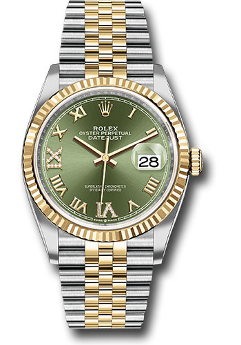 Rolex Watches - Datejust 36 Steel and Yellow Gold - Fluted Bezel - Jubilee - Style No: 126233 ogdr69j