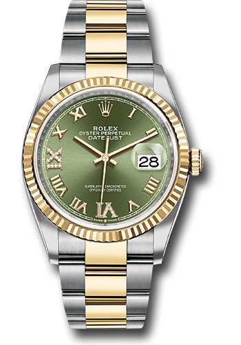 Rolex Watches - Datejust 36 Steel and Yellow Gold - Fluted Bezel - Oyster - Style No: 126233 ogdr69o