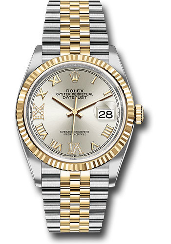 Rolex Watches - Datejust 36 Steel and Yellow Gold - Fluted Bezel - Jubilee - Style No: 126233 sdr69j