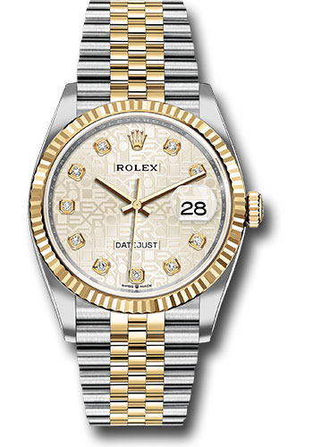 Rolex Watches - Datejust 36 Steel and Yellow Gold - Fluted Bezel - Jubilee - Style No: 126233 sjdj