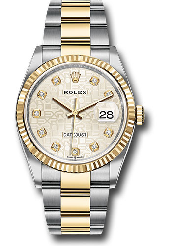 Rolex Watches - Datejust 36 Steel and Yellow Gold - Fluted Bezel - Oyster - Style No: 126233 sjdo