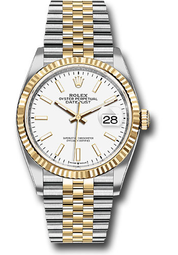 Rolex Watches - Datejust 36 Steel and Yellow Gold - Fluted Bezel - Jubilee - Style No: 126233 wij