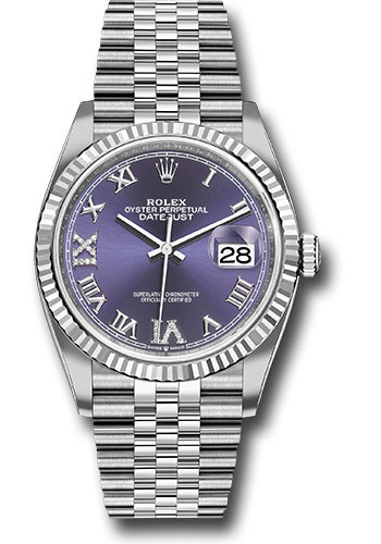 Rolex Watches - Datejust 36 Steel and White Gold - Fluted Bezel - Jubilee - Style No: 126234 audr69j