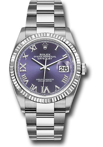 Rolex Watches - Datejust 36 Steel and White Gold - Fluted Bezel - Oyster - Style No: 126234 audr69o