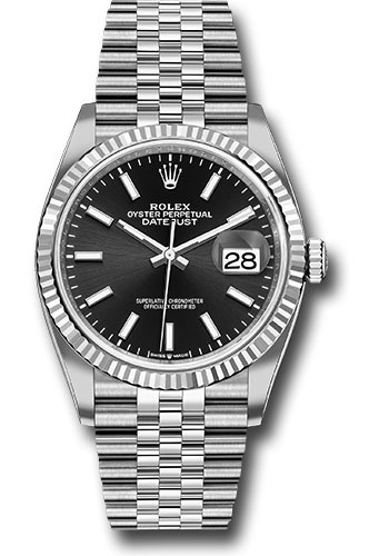 Rolex Watches - Datejust 36 Steel and White Gold - Fluted Bezel - Jubilee - Style No: 126234 bkij