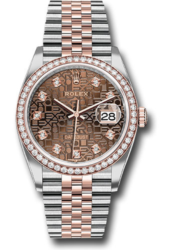 Rolex Watches - Datejust 36 Steel and Pink Gold - Diamond Bezel - Jubilee - Style No: 126281RBR chojdj