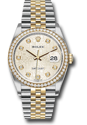 Rolex Watches - Datejust 36 Steel and Yellow Gold - Diamond Bezel - Jubilee - Style No: 126283RBR sjdj