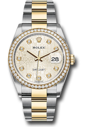 Rolex Watches - Datejust 36 Steel and Yellow Gold - Diamond Bezel - Oyster - Style No: 126283RBR sjdo