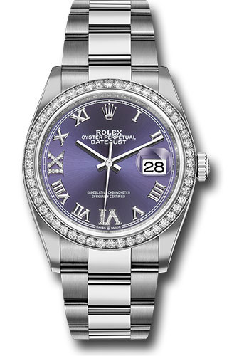 Rolex Watches - Datejust 36 Steel and White Gold - Diamond Bezel - Oyster - Style No: 126284RBR audr69o