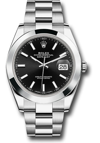 Rolex Watches - Datejust 41 Steel - Smooth Bezel - Oyster - Style No: 126300 bkio