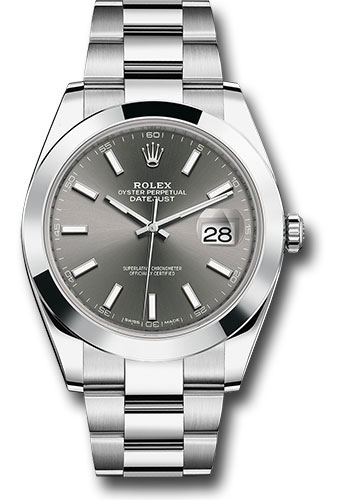Rolex Watches - Datejust 41 Steel - Smooth Bezel - Oyster - Style No: 126300 dkrio