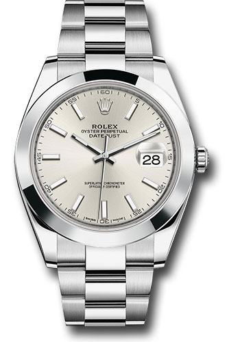 Rolex Watches - Datejust 41 Steel - Smooth Bezel - Oyster - Style No: 126300 sio