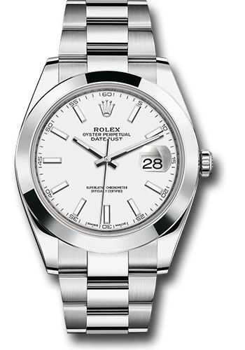Rolex Watches - Datejust 41 Steel - Smooth Bezel - Oyster - Style No: 126300 wio
