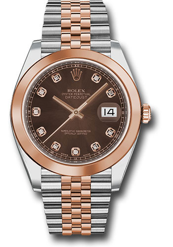 Rolex Watches - Datejust 41 Steel and Pink Gold - Smooth Bezel - Jubilee - Style No: 126301 chodj