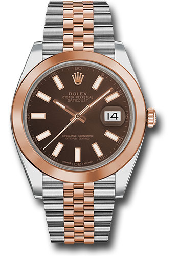Rolex Watches - Datejust 41 Steel and Pink Gold - Smooth Bezel - Jubilee - Style No: 126301 choij