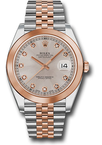 Rolex Watches - Datejust 41 Steel and Pink Gold - Smooth Bezel - Jubilee - Style No: 126301 sudj