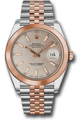 Rolex Watches - Datejust 41 Steel and Pink Gold - Smooth Bezel - Jubilee - Style No: 126301 suij