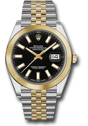 Rolex Watches - Datejust 41 Steel and Yellow Gold - Smooth Bezel - Jubilee - Style No: 126303 bkij