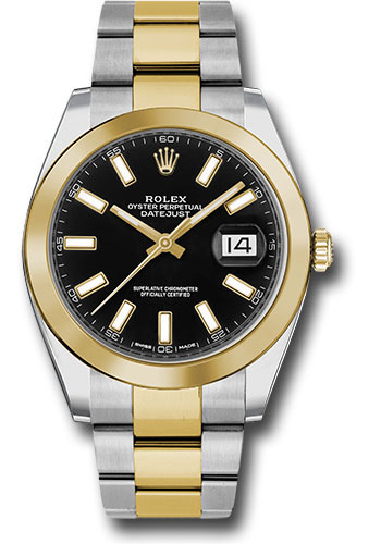 Rolex Watches - Datejust 41 Steel and Yellow Gold - Smooth Bezel - Oyster - Style No: 126303 bkio