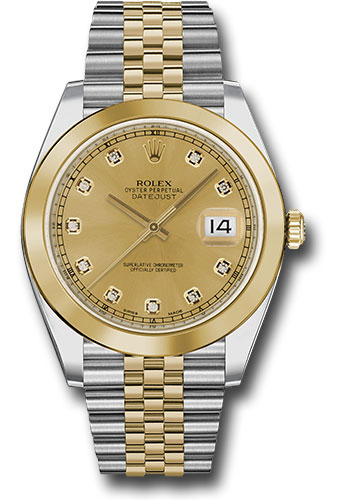 Rolex Watches - Datejust 41 Steel and Yellow Gold - Smooth Bezel - Jubilee - Style No: 126303 chdj