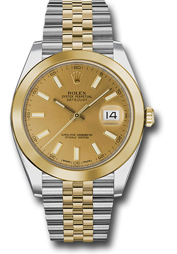 Rolex Watches - Datejust 41 Steel and Yellow Gold - Smooth Bezel - Jubilee - Style No: 126303 chij