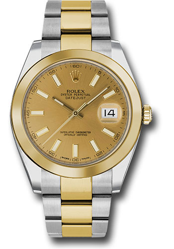 Rolex Watches - Datejust 41 Steel and Yellow Gold - Smooth Bezel - Oyster - Style No: 126303 chio