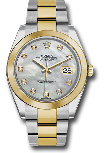 Rolex Watches - Datejust 41 Steel and Yellow Gold - Smooth Bezel - Oyster - Style No: 126303 mdo
