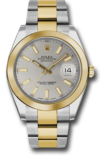 Rolex Watches - Datejust 41 Steel and Yellow Gold - Smooth Bezel - Oyster - Style No: 126303 sio
