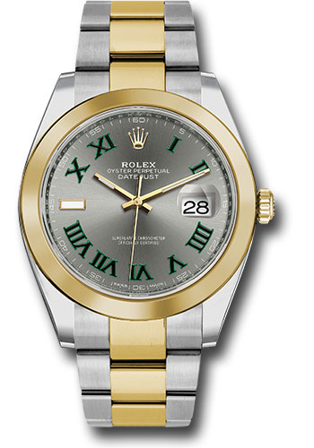 Rolex Watches - Datejust 41 Steel and Yellow Gold - Smooth Bezel - Oyster - Style No: 126303 slgro