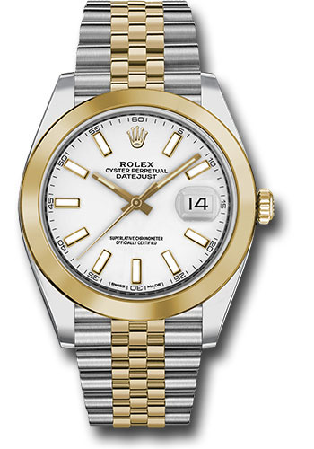 Rolex Watches - Datejust 41 Steel and Yellow Gold - Smooth Bezel - Jubilee - Style No: 126303 wij
