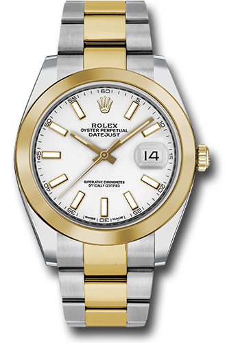 Rolex Watches - Datejust 41 Steel and Yellow Gold - Smooth Bezel - Oyster - Style No: 126303 wio