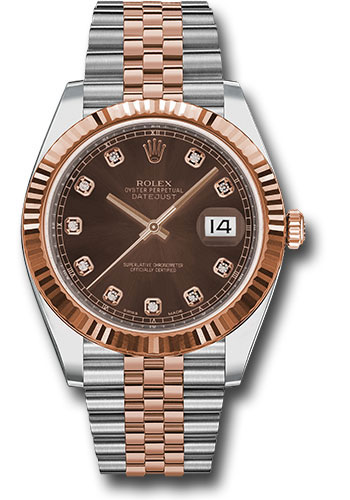 Rolex Watches - Datejust 41 Steel and Pink Gold - Fluted Bezel - Jubilee - Style No: 126331 chodj